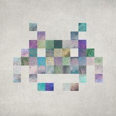 """Cubist Invader II"" Art Print by Terry Fan"
