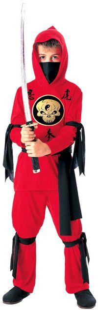 Kids Red Ninja Costume - Ninja Costumes