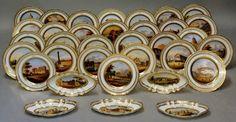 Set de sobremesa em porcelana Francesa da primeira metade do sec.19th, 16,910 USD / 15,350 EUROS / 67,060 REAIS / 110,350 CHINESE YUAN oulcariocantiques.tictail.com