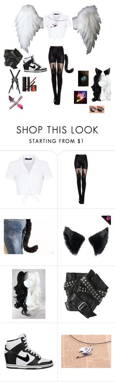 """""""Fairy Tail rp Chim"""" by angle12345 ❤ liked on Polyvore featuring Hallhuber, Karl Lagerfeld, NIKE and Nintendo"""