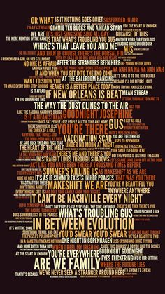 Digital Lyric Art for all songs on The Tragically Hip's 2004 album 'In Between Evolution'. Fun Quotes, Lyric Quotes, Best Quotes, Lyric Art, Music Lyrics, Tragically Hip Lyrics, Can You Find It, All Songs, Rock Posters