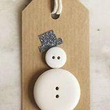 Button Snowman Tag