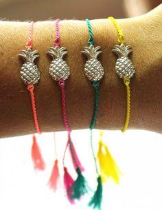 Pineapple bracelet zilver #armcandy #ohsohip #riverstones