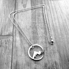 Edelstahl Halskette für Bergfans. Berg, Piercing, Silver, Jewelry, Women's, Jewlery, Jewerly, Piercings, Schmuck