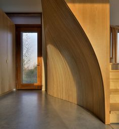 House in Frogs Hollow by Williamson Chong Architects: carved, layered sheets of wood...