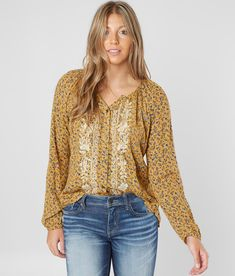 c67476996 Daytrip Floral Blouse - Women's Shirts/Blouses in Honey Gold | Buckle