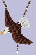 Bead Pattern - Bald Eagle Necklace