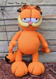 Garfield a Crochet Pattern by Erin Scull por ErinScullsToyStore