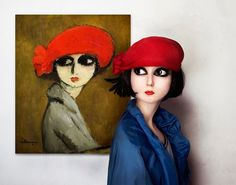 The real life models: Coquelicot by Kees van Dongen