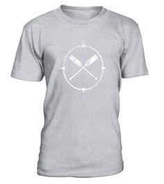 Kayaking Paddle Emblem Cool Canoeing Outdoor Tshirt Tee #outdoorshirts
