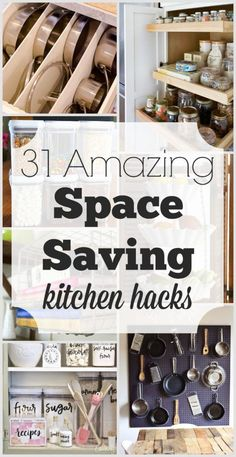 Have a small kitchen? These 31 coolest Space Saving Kitchen Hacks and ideas will inspire you to create more space. Most of them are easy and cheap.