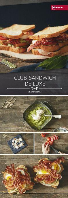 Knuspriger Speck, cremige Avocado, zartes Hühnchen – das Club-Sandwich de luxe hält, was es verspricht.