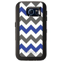 Black OtterBox Defender for Samsung Galaxy S6 Blue Black Chevron Stripes #OtterBox