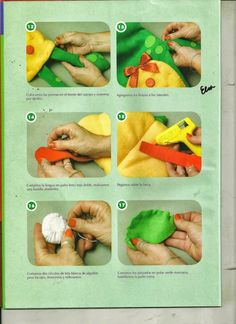 Muñecos y juguetes paso a paso - Revistas de manualidades Gratis Animal Hand Puppets, Felt Puppets, Puppet Crafts, Kindergarten Activities, Stuffed Toys Patterns, Dolls, Sewing, Handmade, Patio