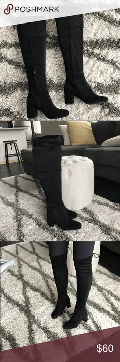 NWT Black Over the Knee Boots Size 8.5 Love! Franco Sarto Shoes Over the Knee Boots