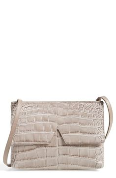 Vince 'Small' Croc Embossed Leather Crossbody Bag available at #Nordstrom