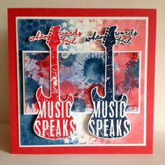 Visible Image stamps - Music Speaks - Guitar stamp - Nicky Gilburt
