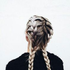 2 french braids I'd do this all the time is my hair was a lil longer