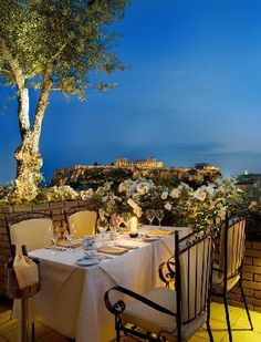 Greece Travel Inspiration - The Olive Garden in Athens, Greece. Fabulous view and food. Greece Cruise, Greece Travel, Oh The Places You'll Go, Places To Visit, Greek Islands Vacation, Rooftop Restaurant, Olive Gardens, Athens Greece, Mykonos Greece