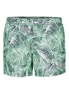 Green Jungle Palm Print Swim Shorts - New This Week - New In - TOPMAN