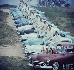 Oldsmobiles....  Photographer:Ralph Crane