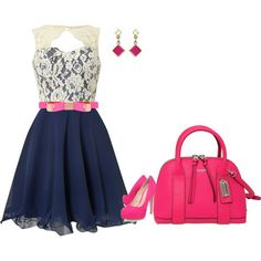"""""""Dressing Pink"""" by tonnie-1 on Polyvore"""