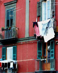 """Naples Italy Laundry""  www.redbubble.com/people/danaroper"
