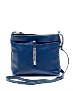 Roberta Minelli Genuine Leather Solid Color Crossbody Made In Italy