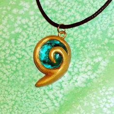 Legend of Zelda - Kokiri Emerald Spiritual Stone Necklace | YellerCrakka - Jewelry on ArtFire