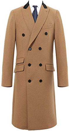 New The Platinum Tailor Mens Double Breasted Camel Cashmere & Wool Overcoat Winter Cromby Velvet Collar & Gold Lining online - Toocutefashion Cool Jackets For Men, Men's Coats And Jackets, Winter Jackets, Mens Wool Overcoat, Winter Outfits Men, Cashmere Coat, Mens Fashion Suits, Jacket Style, Men's Jacket