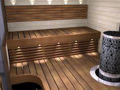 Saunas, Sauna Seca, Sauna Ideas, Steam Sauna, Stairs, Relax, Bathroom, Outdoor Decor, Home Decor