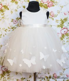Christening dress Flower girl dress Girl by VintageBebeBoutique