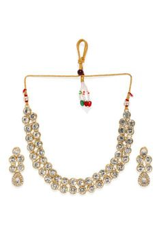 Shop White Alloy Austrian Diamond Necklace Set Earrings 199012 online from huge collection of indian ethnic jewellery at Indianclothstore.com. Ethnic Jewelry, Jewellery, Diamond Necklace Set, White Shop, Indian Ethnic, Earring Set, Collection, Fashion, Moda