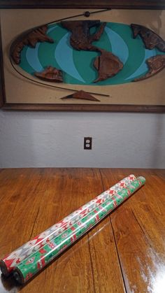 DISNEY Mickey Mouse Christmas Wrapping Paper 2 rolls Mid Century MCM Atomic r/g