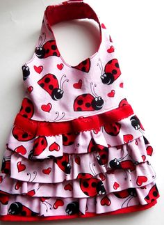 Dog Dress  Girl Dog Clothes  Ladybug Dog Dress  by PetPawTeek