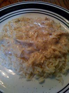 Crock Pot Chicken Over Rice