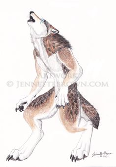 Proud to be a werewolf - Jennette Brown Digital Fantasy - Wolves and Werewolves