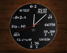 If you can read this #clock, you are without a doubt a #geek. Each hour is marked by a simple math problem. Solve it and solve the riddle of time. - http://thegadgetflow.com/portfolio/dci-pop-quiz-wall-clock-20/