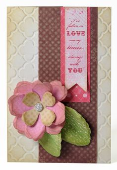 Say it with Flowers Card #sizzix #papercraft #flowers