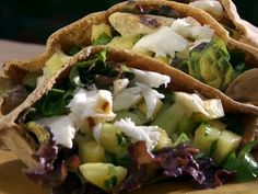 Citrus Grilled Halibut with Cucumber Pineapple Salsa in a Whole-Wheat Pita Pocket from the Food Network