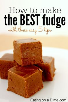 5 tips to make the perfect fudge recipe - follow these easy tips so you never mess up a fudge recipe.
