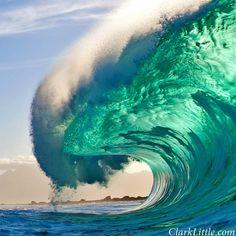 Hawaiian Shorebreak by Clark Little