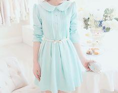 Vestido celeste estilo coreano