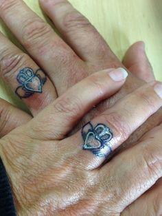 40+ Sweet & Meaningful Wedding Ring Tattoos | Ring tattoos ...