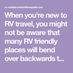 When you're new to RV travel, you might not be aware that many RV friendly places will bend over backwards to attract your business. Here are the top 6 places where you can usually stay for free. and take advantage of other conveniences too. Travel Trailer Camping, Travel Trailer Remodel, Rv Travel, Rv Camping, Camping Hacks, Places To Travel, Camping Ideas, Glamping, Rv Hacks