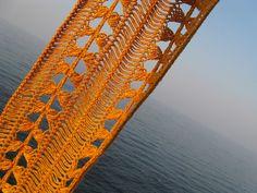 Ravelry: Sunbeam Hairpin Scarf pattern by Evgeniya Kazakova