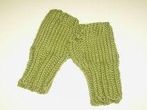 Grüne  Handstulpen für Babys