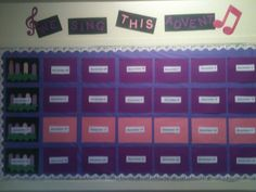 Advent bulletin board - new christmas carol each day - a little history of the christmas carol and some of they lyrics