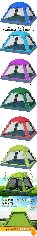 B071NZ9LXX : GOUQIN Tente 3-4 Personne Plein De Pluie-Automatique Camping Tentes Simple Couche Rouge Équipement De Sports De Plein Air. Parfait pour les fêtes et les voyages de camping. Imperméable à l'eau léger et robuste. robuste finition avec coutures scellées étanches & matériel ignifuge font cette tente spacieuse très durable. Spacieux espace pouvant accueillir bottes et gros emballages. Imperméable à l'eau Anti-déchirure résistant à l'usure respirante