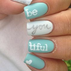 be YOU tiful nails....im not a nail girl...don't have the time and I can't bring my self to spend the money on it....but I do have to say I like this.